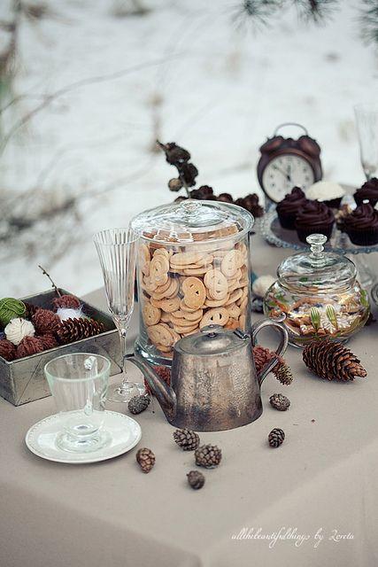 Vintage Winter Wedding, via Flickr.