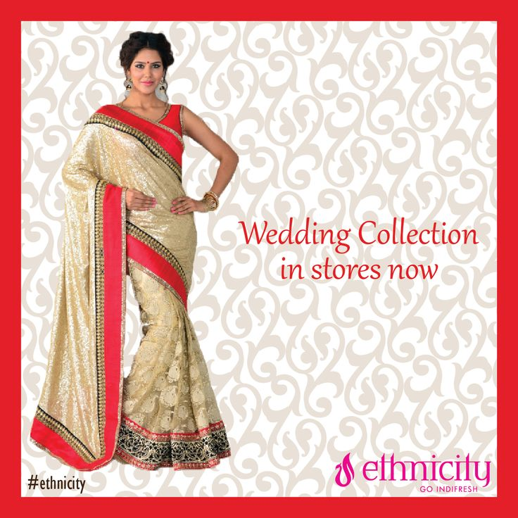 Friends wedding? How about wearing an elegant red border saree? #ethnicity#indifresh#wedding#collection#weddingcollection#saree