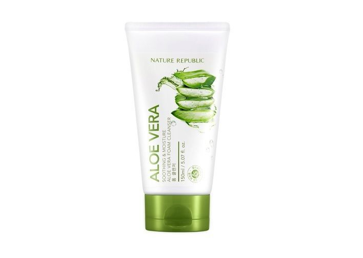 Details about Nature Republic Soothing & Moisture Aloe Vera Foam Cleanser 150ml + Free Sample