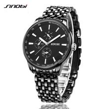 SINOBI watch men's quartz watch luxury brand men's steel casual watch waterproof clock men's watch Relogio Masculino //Цена: $9 руб. & Бесплатная доставка //  #electronic #device