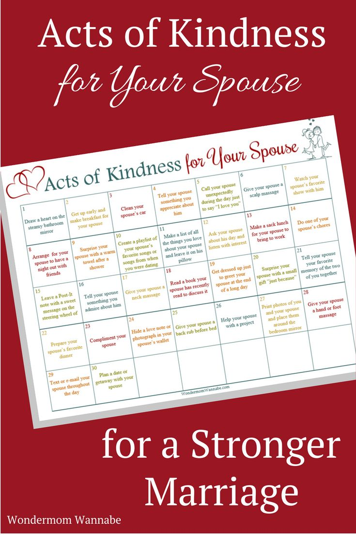 how to show kindness to your spouse