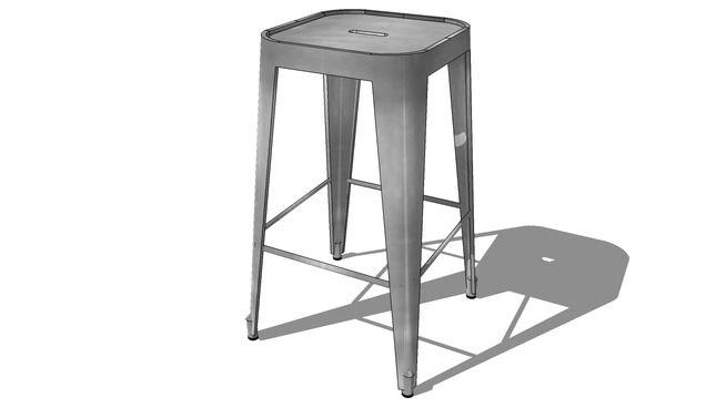 Tabouret de bar JIM gris, Maisons du monde. Réf: 146321 Prix: 69,99 € - 3D Warehouse