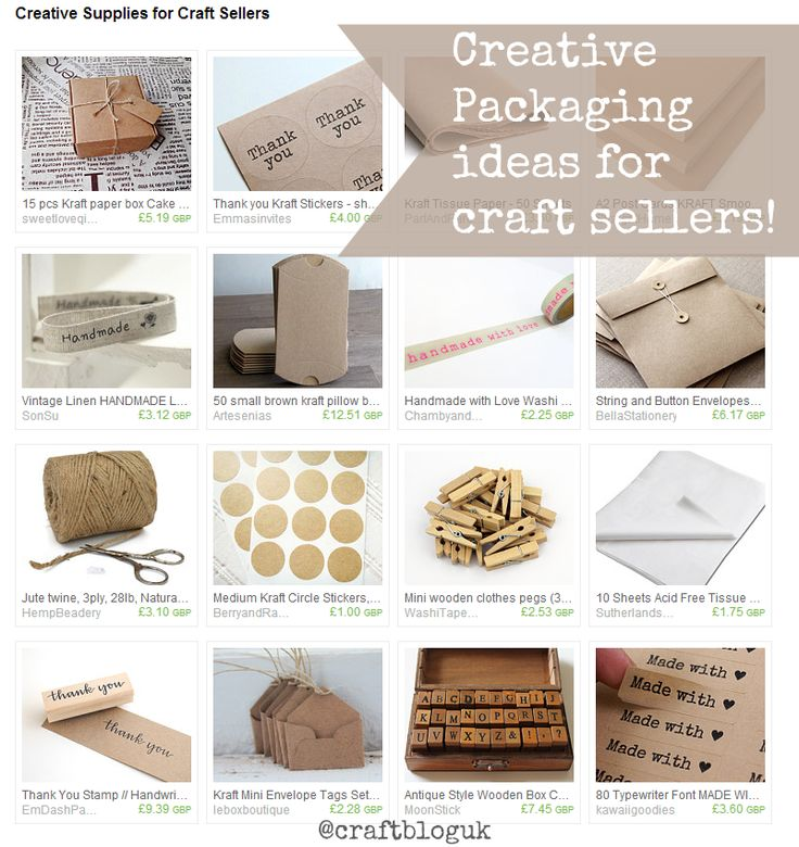 packaging ideas for craft sellers
