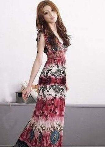 Holiday Essential High Waist Sleeveless Printed Maxi Dress – teeteecee - fashion in style