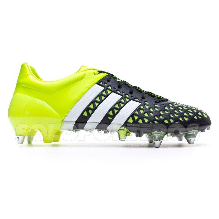 Bota de fútbol adidas Ace 15.1 SG Solar yellow-White-Core black