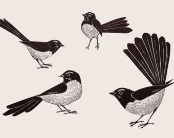 Image result for paintings of willi wagtails