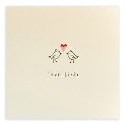 Pencil Shavings Cards - Love Birds