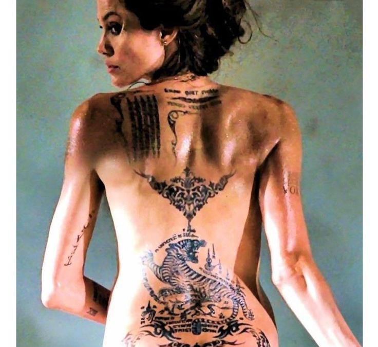 angelina jolie tattoos gallery pictures to pin on
