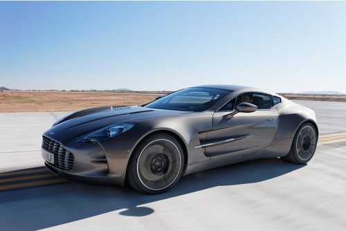 New Aston Martin One-77 at Virgin's Galactic Spaceport. Definitely a true driving man's (super) car.