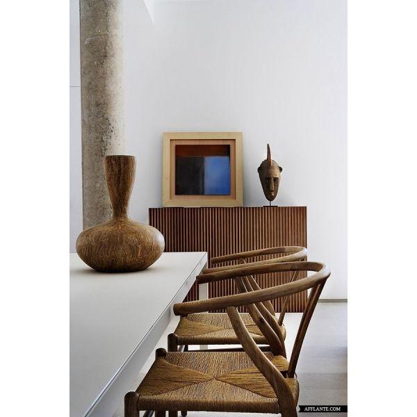 Hans J Wegner Wishbone Chair - Walnut / Natural