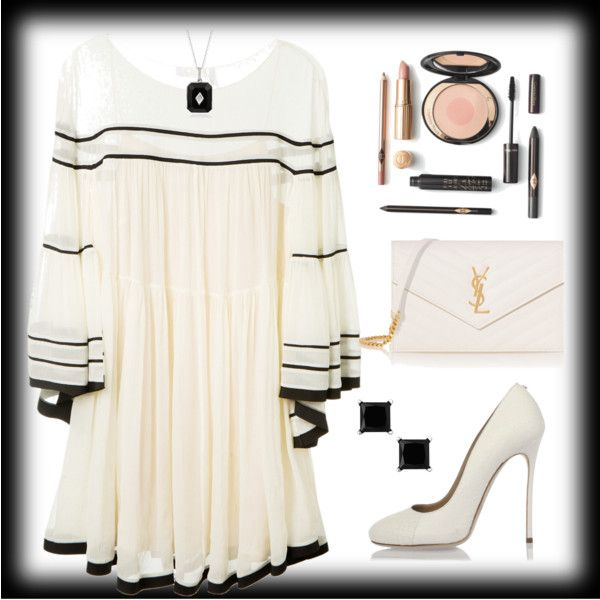 Untitled #1716 by ebramos on Polyvore featuring mode, Chloé, Dsquared2 and Yves Saint Laurent