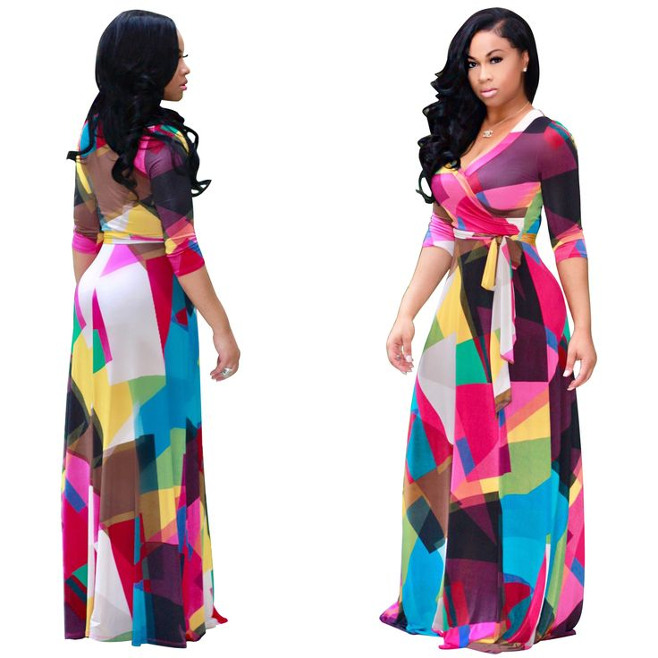 African Dresses Promotion Polyester 2017 Hot Sexy Awesome Digital Printing Fashion Wind Skirt Dress African Women Clothing