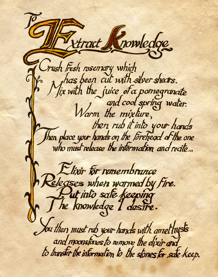 """To Extract Knowledge"" - Charmed - Book of Shadows"