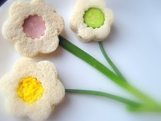Tea Sandwich Ideas - I love the flower design... and it's a great way to show what kind of sandwich it is.