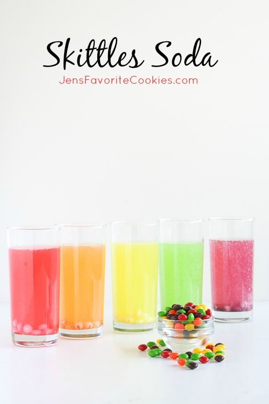 Skittles Soda from JensFavoriteCookies - one of the easiest and funnest drinks ever!  Non-alcoholic and kid friendly.