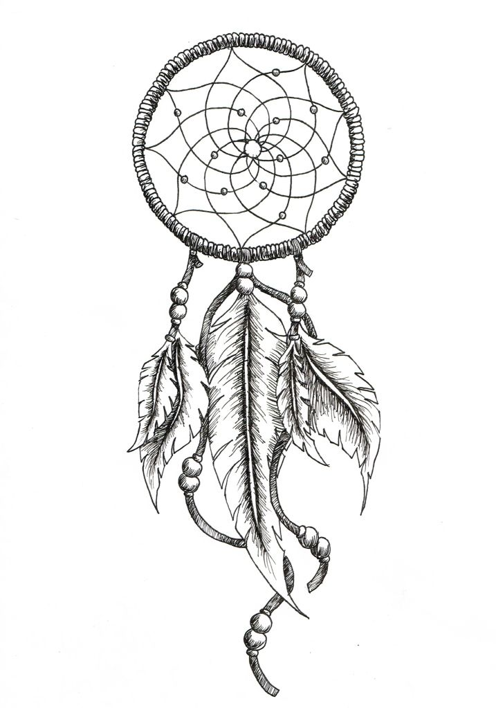 dreamcatcher tattoos with birds drawings google search With dreamcatcher tattoo template