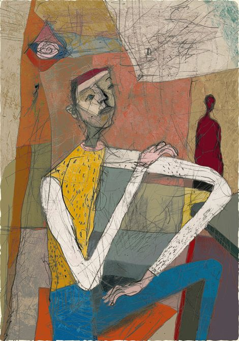 Toshihiko Okuya, study #036 on ArtStack #toshihiko-okuya #art