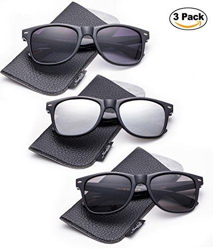 a70f88668c1 Newbee Fashion Wayfarer Style Sunglasses with Pouch Men Women Classic 80 s  Retro Vintage Design UV Protection Wayfa…