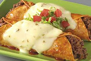 VELVEETA Jalapeno Enchiladas--Made 02/11/13- EASY and good. I love jalapeno Velveeta cheese- its delic. making some burgers with the rest of it I have left.