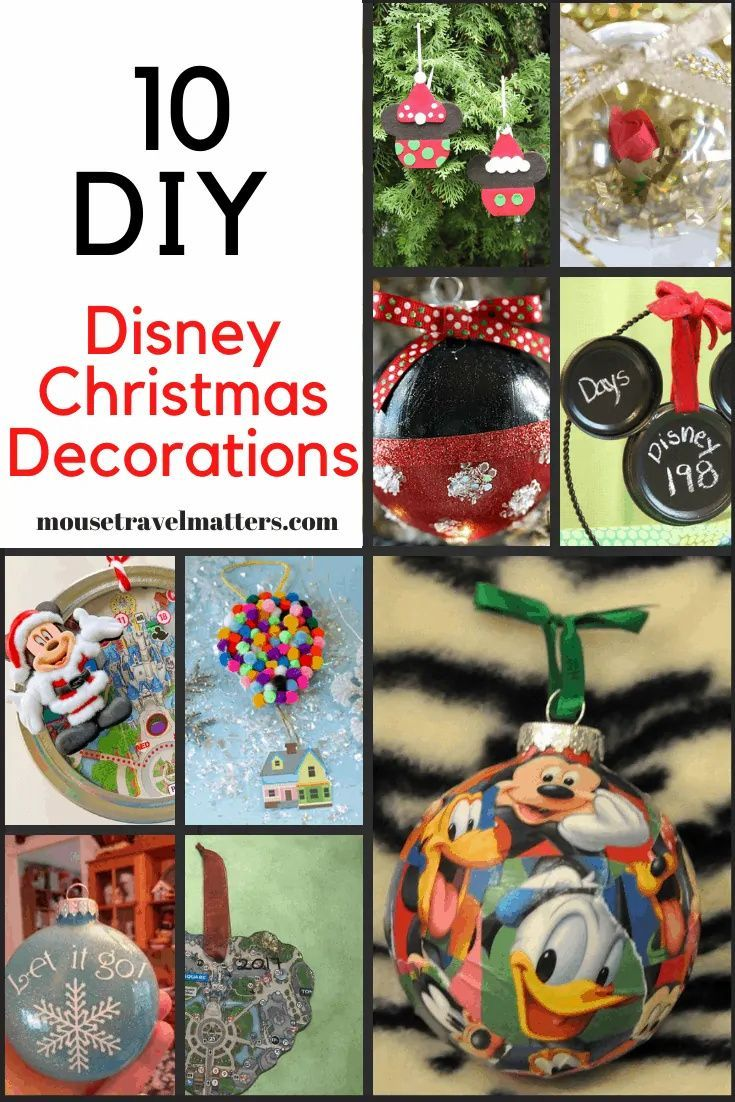 10 Diy Disney Christmas Decorations That Will Make Your Holidays Magical Mouse Travel Matters Disney Christmas Crafts Disney Christmas Diy Disney Christmas Decorations