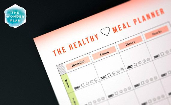 HEALTHY PLANNER   MEAL PLANNER & GROCERY LIST FOR A HEALTHY LIFE ...