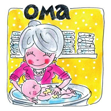 Oma doet haar kleinkind in bad- Greetz