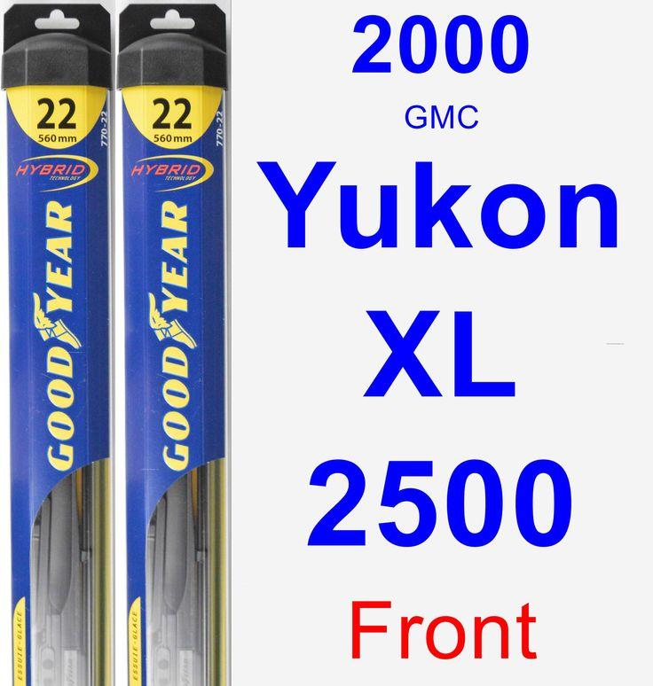 Front Wiper Blade Pack for 2000 GMC Yukon XL 2500 - Hybrid