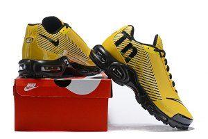 Men s Nike Mercurial TN Air Max Plus Yellow Black White Running Shoes 8f1504bf365d8