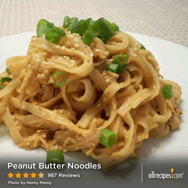 "Peanut Butter Noodles | ""I made this for my daughter for her lunches ..."
