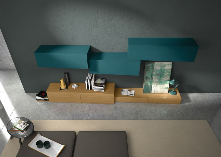 Sectional Wall Mounted Modular Storage Wall InclinART   264 By Presotto  Industrie Mobili Design Pierangelo Sciuto