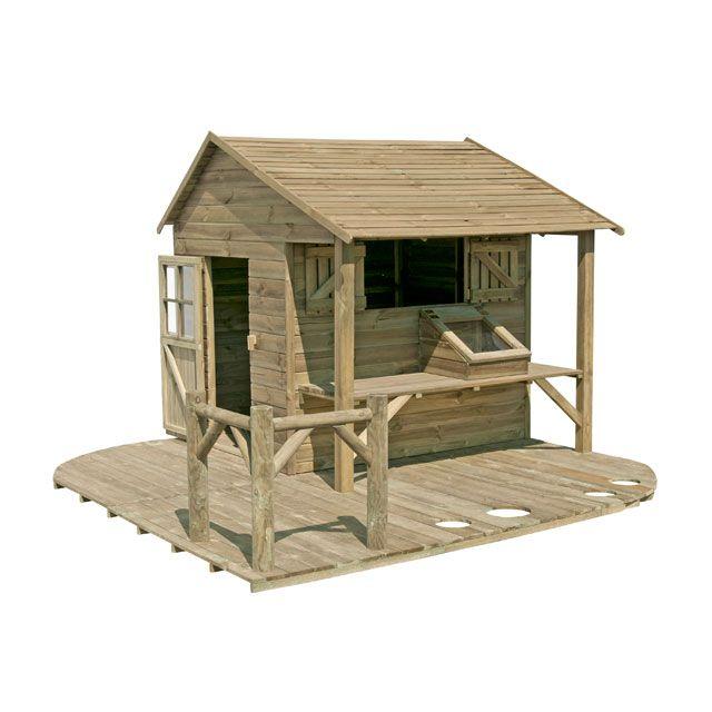 maisonnette en bois ciboulette castorama jardin pinterest maisonnette en bois castorama. Black Bedroom Furniture Sets. Home Design Ideas