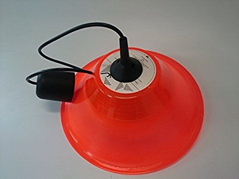 Deckenlampe Lampenschirm orange hergestellt aus original Vinyl Schallplatte