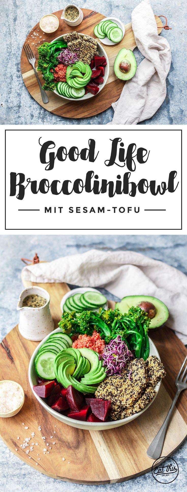 Good Life Broccolinibowl mit crunchy Sesam-Tofu