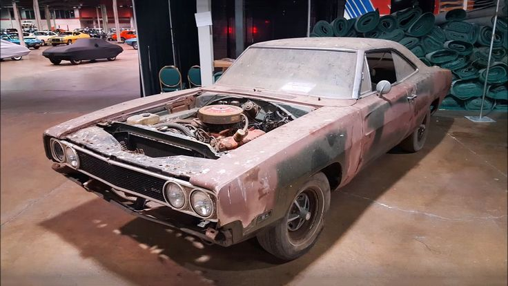 Check this Super Cool 1969 Dodge Charger 500 Barn Find #dodgevintagecars