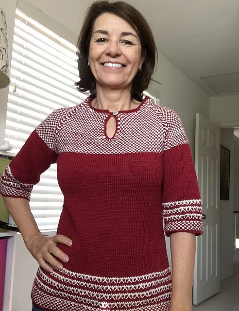 azret14's finished Soho Slip Stitch pullover! Great end to a wonderful KAL!!