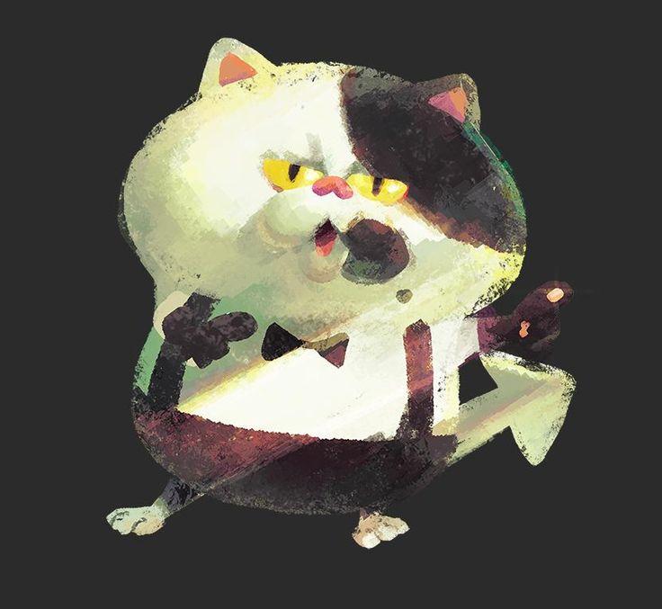 このネコの名前は「ジャッジくん」。 長い間、謎に包まれていた彼の生態が徐々に明らかになってきた。 瞬時にナワバリの広さを見分ける能力を持ち、バトルの勝敗は彼によってジャッジされるそうだ。 ちなみに、服のように見えるのは毛の模様らしい。