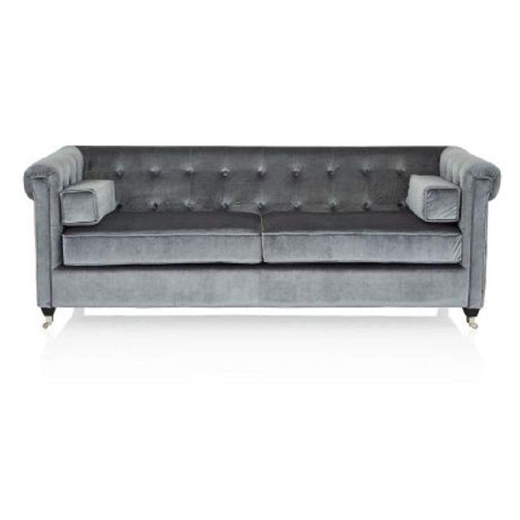 Sofa, Vintage Chesterfield  Samtbezug  impressionen