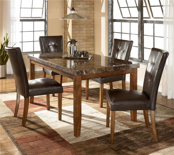 Lacey Rectangular Dining Room Table 4 UPH Side Chairs By Signature Design Ashley Get Your At