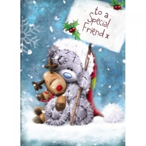 Me To You Tatty Teddy Special Friend Christmas Card