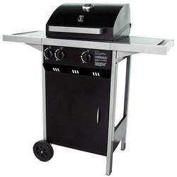 Barbecue au gaz Optima plus. 2 brûleurs en inox.