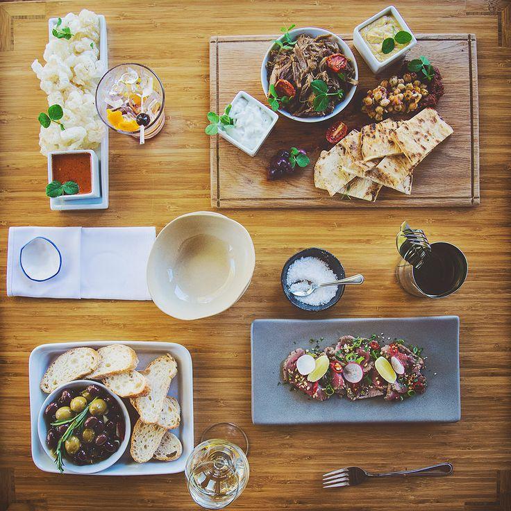 Sharing plates at Peddlars & Co.