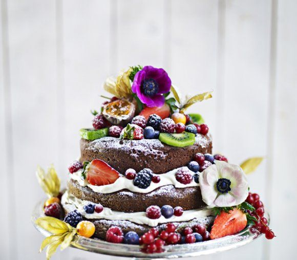 Chocolate Cake with Berries Recipe
