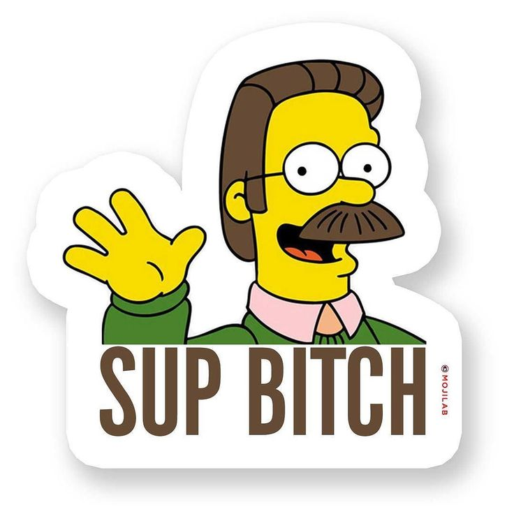 Sup ding dang biddlyitches. Now in #SupBitch Pack. Download #app in profile. Send to bitches on #chat. #supbitches #sup #bitch #bitchplease #bitchesbelike #ned #flanders #simpsons #nedflanders #mobile #moustache #lol #lolz #funny #comedy #memes #emoji #meme #keyboard #digitalsticker #mojilab