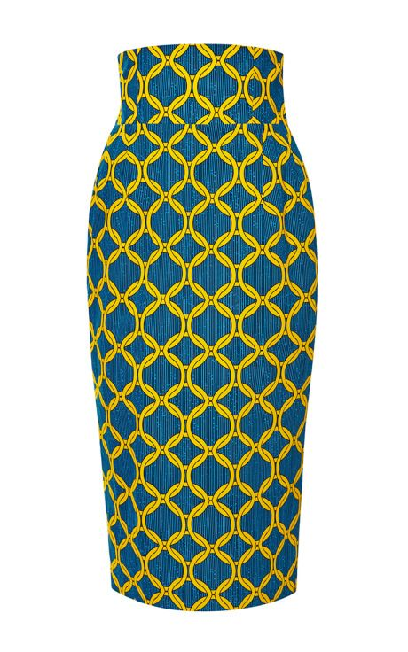 Printed Cotton Pencil Skirt by Stella Jean - Moda Operandi