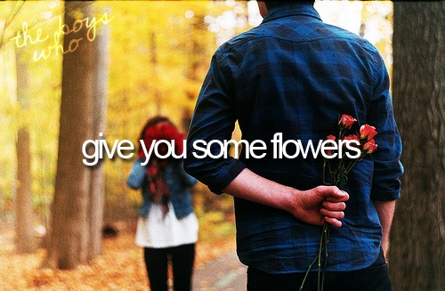 guys who give flowers