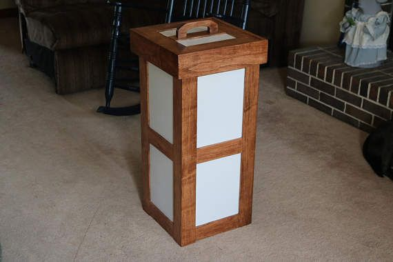 25 best ideas about kitchen trash cans on pinterest trash can cabinet cabinet trash can diy - Wooden kitchen trash can with lid ...