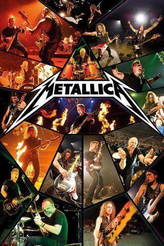 Metallica Live Concert Poster Print Wall Art Large Maxi