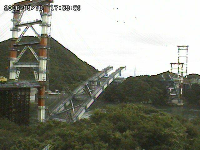ライブカメラ|熊本市と天草市を結ぶ橋|熊本県の新天門橋(仮称)工事