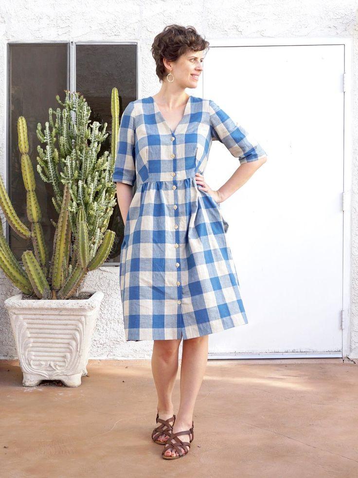 DIY V-neck Shirtdress – A review of the Darling Ranges Dress pattern by Megan Nielsen | Sew DIY