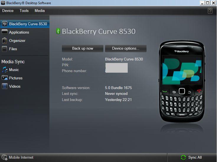 [Panduan Pemula] Cara Backup Kontak BBM dan Data BlackBerry Curve Dengan Desktop Software  :::   Cara Backup Kontak BBM dan Data BlackBerry Curve